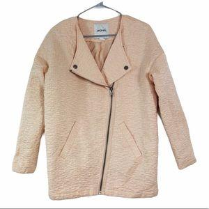 Monki pink mauve biker style zip jacket. XS